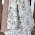 Baby quilt, baby blanket, pram blanket  cot quilt