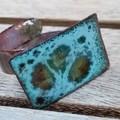 Cloud Flower - copper enamel ring