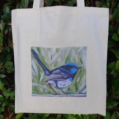 Superb Fairy Wren Calico Tote Bag