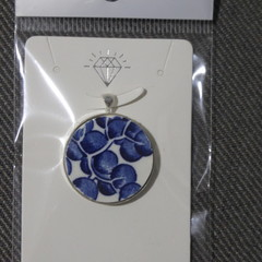 Blue Willow China Pendant    #118