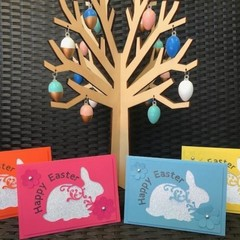 Colourful Glitter Bunny Easter Cards