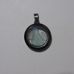 Sea Glass Floating Locket Pendant  #131