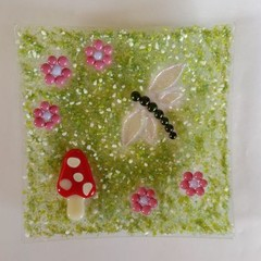 Dragonfly Toadstool Plate