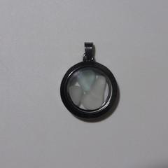 Sea Glass Floating Locket Pendant  #132
