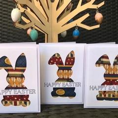 Easter Bunny Fabric Card