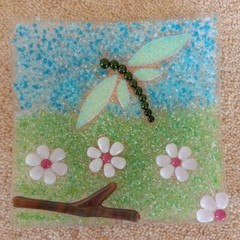 Dragonfly Cherry Blossom Plate