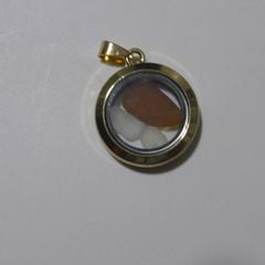 Sea Glass Floating Locket Pendant  #130