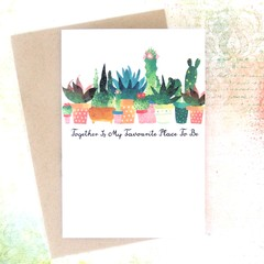 Together Is My Favourite Place To Be Card, Hello, Thinking Of You, Anniversary