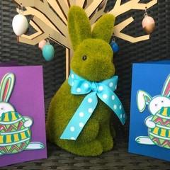 Blue Easter Bunny Mandala