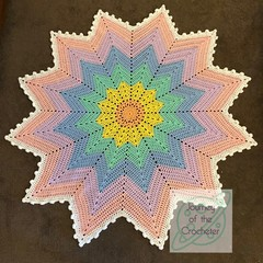 Rainbow Star Blanket