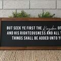 60 x 22 cm's / OLNF Matthew 6:33 But seek ye first the Kingdom of God
