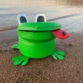 Freeda the Frog Go Cart Tyre Pot Plant Retro Revival Recycle