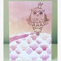 Owl princess card