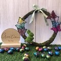 Easter Butterfly and Rabbit  Wreath