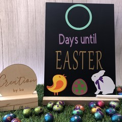 Easter count down chalk board