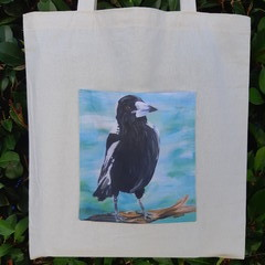Australian Magpie Calico Tote Bag