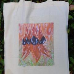 Sturt's Desert Pea Calico Tote Bag