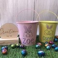 Easter tin buckets