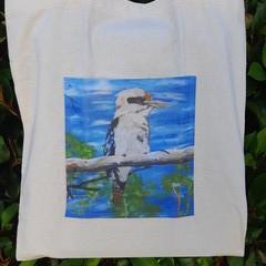 Kookaburra Calico Tote Bag