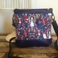 Jasmine Crossbody Bag - Alice on Navy/Navy Faux Leather