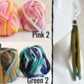 Unique Colourful Super long fabric tassel dangle earrings , Rainbow Multi colour