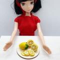 Miniature Lemon fruit, lemon slices for Dollhouse play, handmade polymer clay