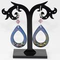 Boho Beauty Torch-Fired Enamel Copper & Sterling Silver Earrings