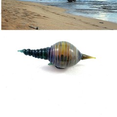 Handmade glass shell: small sculpture