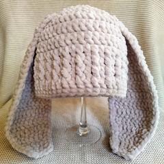 Crochet Bunny Hat / Photo Prop - 12 to 24 months