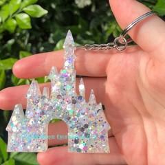 Disney Castle  ~ key tag ~ resin