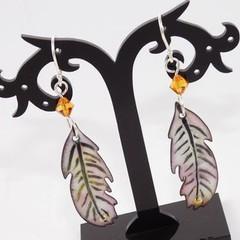 Dreamcatcher Torch-Fired Enamel Copper & Sterling Silver Earrings