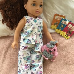 "Doll Clothes Summer Pj's 45cm 18"" Doll OG AAG long pants"