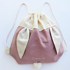 Kids Personalised Bunny Bag – Blush Pink