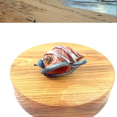 Handmade glass shell sculpture