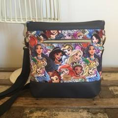 Jasmine Crossbody Bag - Princesses/Navy Faux Leather