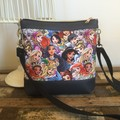 Jasmine Crossbody Bag - Princesses/Navy Faux Leather