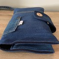 Handmade Upcycled Nappy Wallet and Bag. Made from genuine Country Road Jeans