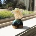 Handmade Gemstone Resin Female Torso Sculpture