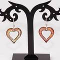 My Heart Burns For You Torch-Fired Enamel Copper & Sterling Silver Earrings