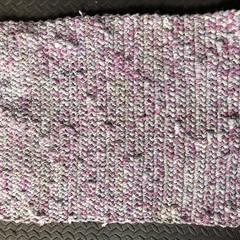 Upcycled Crochet Footmat