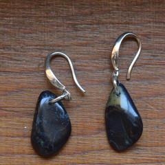Vivianite and Sterling Silver Earrings