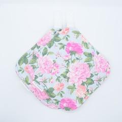 Pink & Blue Floral Potholders - Matching Set of 2