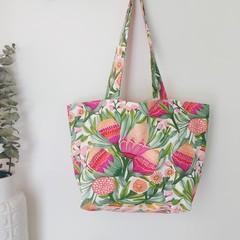 Boxy Tote Bag- Gum Blossoms