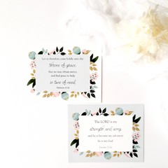 Christian Bible Verse Religious Inspirational Cards - Scripture Memory Pack 5