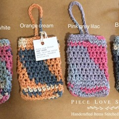 """Soap Saver, 100% recycled cotton, 4"""" x 2.5"""", eco friendly, cotton soap sack,"""