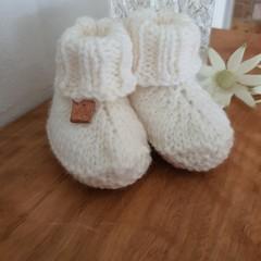 Knitted Baby Booties handmade from Australian Merino wool