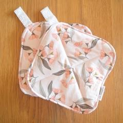 Pink Gum Blossom Potholders - Matching Set of 2