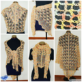 Summer Shawl in shades of yellow and orange