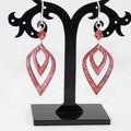 Pink Bits Torch-Fired Enamel Copper & Sterling Silver Earrings