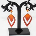 Fire In Your Eyes Torch-Fired Enamel Copper & Sterling Silver Earrings